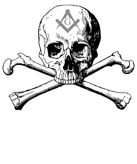 Freemason Skull Crossbones Symbol Masonic Rite T Shirt Posters By