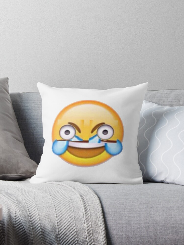 Quot Open Eye Crying Laughing Emoji Quot Throw Pillows By