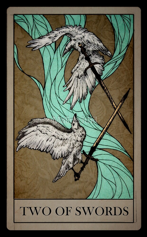 TAROT DECK: TWO OF SWORDS by Malina ithil