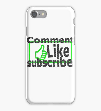 Comment, like, subscribe, iPhone Case/Skin