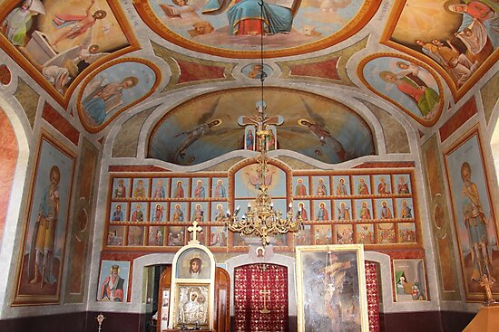The Church of St Mary's Birthday, Bahna, Romania 1909 (interior) by Dennis Melling