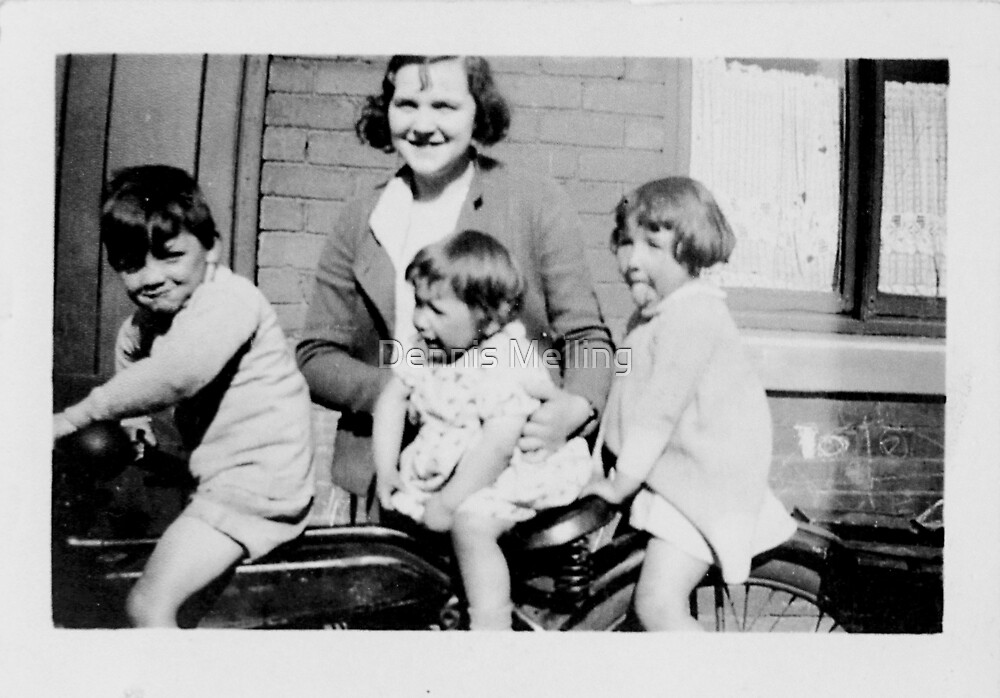 My Mum with My Cousins Gordon, Dorothy and Barbara 1930s by Dennis Melling