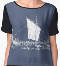 Viking Motive > Viking Boat > Long Boat Chiffon Top