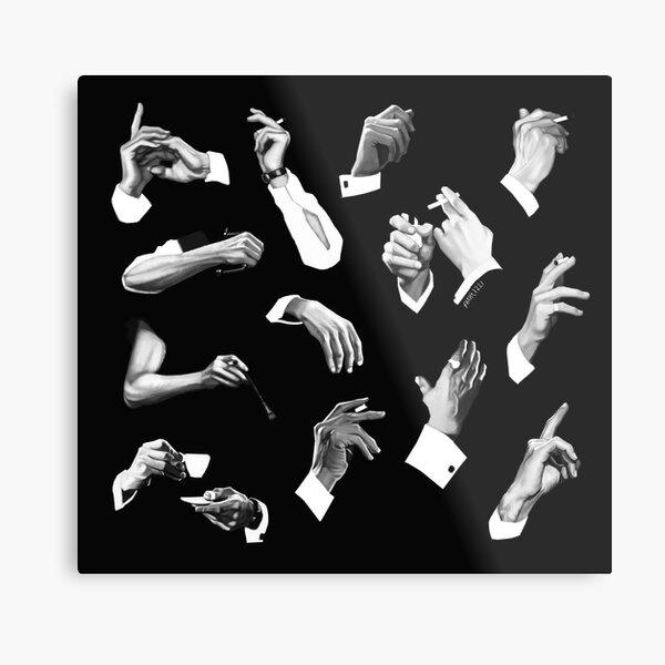 Peter Cushing's Artist Hands Metal Print