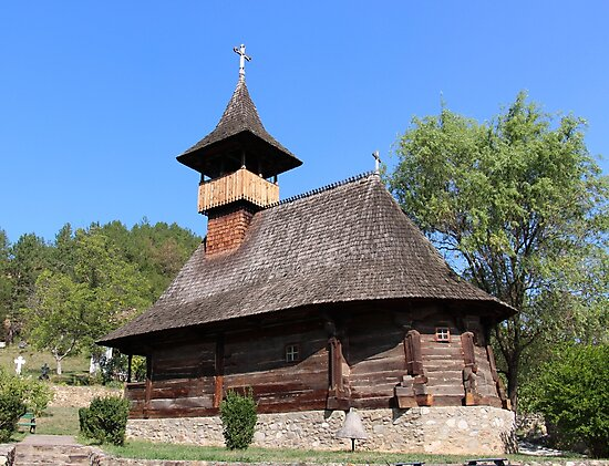 """Wooden Church Dedicated to """"The Saints Emperors Constantin and Helen"""" 16th century by Dennis Melling"""