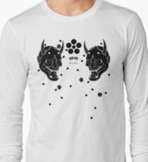 black hannya and cherry blossoms Long Sleeve T-Shirt