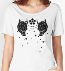 black hannya and cherry blossoms Women's Relaxed Fit T-Shirt