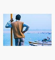 Watching Varanasi River Photographic Print