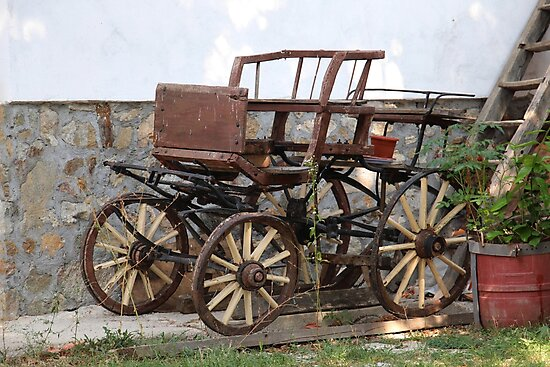 A Vintage Horse Carriage in Need of tlc in Topolnita, Romania by Dennis Melling