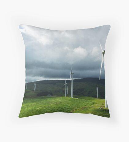 Te Apiti Wind Farm No. 1 Throw Pillow
