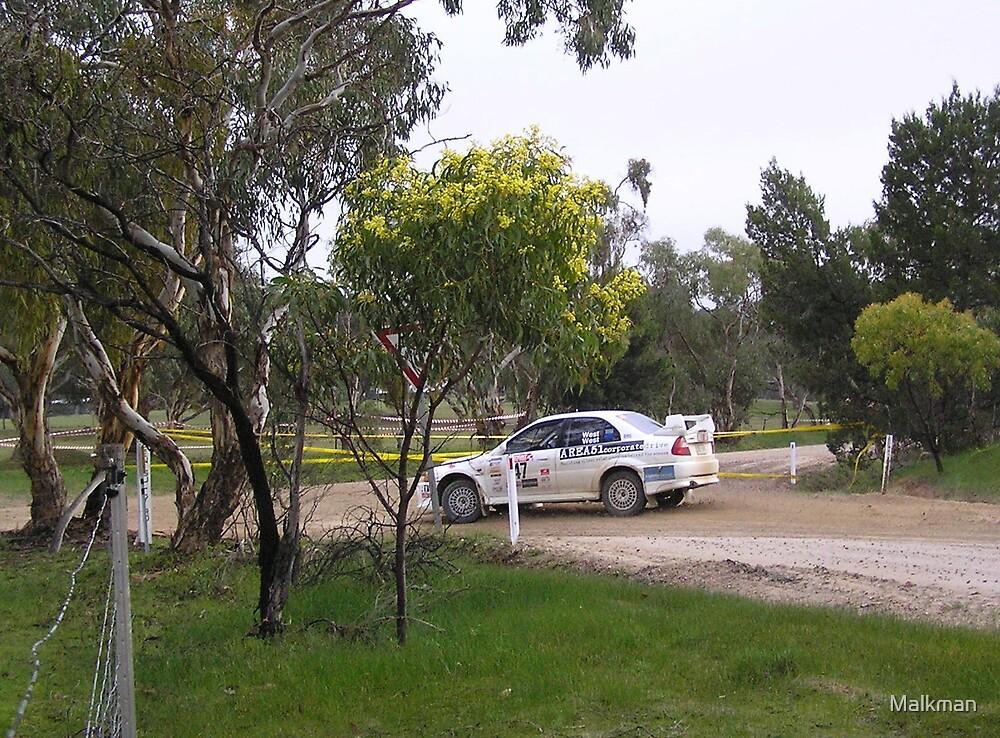 evo lancer Adelaide rally 2008 by Malkman
