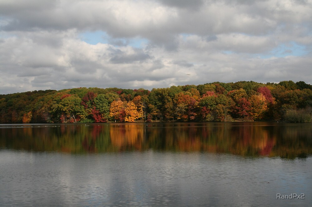 Union Pond in the Fall by RandPx2