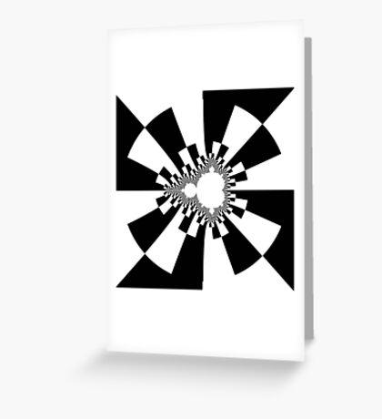 Mandelbrot XV - Black Greeting Card