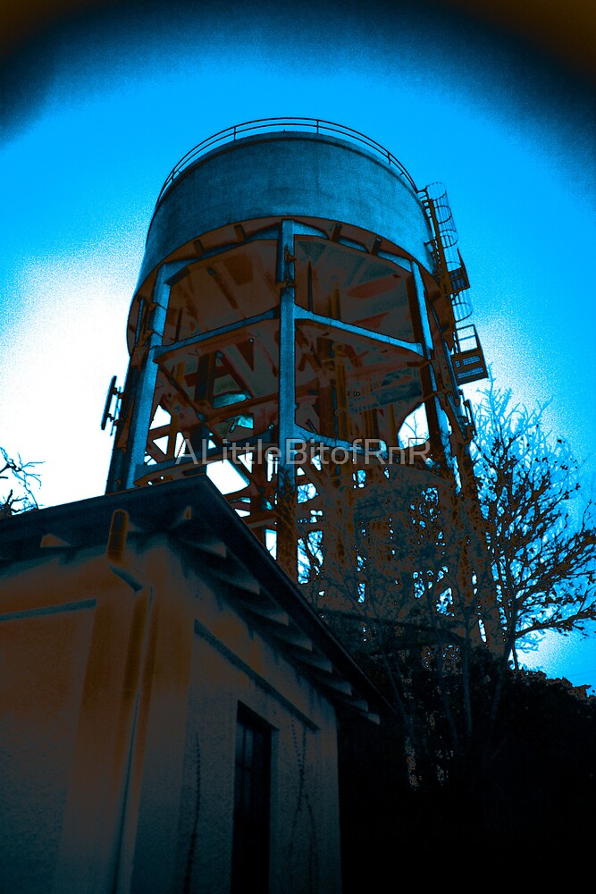 Water Tower at Night by ALittleBitofRnR