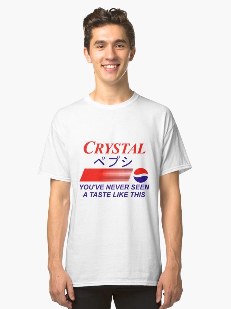 Crystal Pepsi Logo Japanese Classic T-Shirt Front