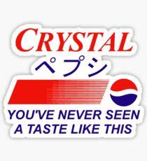Crystal Pepsi Logo Japanese Sticker