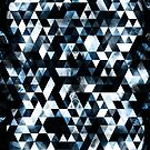 Triangle Geometric Vibrant Blue Smoky Galaxy by PLdesign