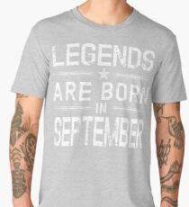 Legends Are Born In September TShirt-Vintage Distressed Tee Men's Premium T-Shirt