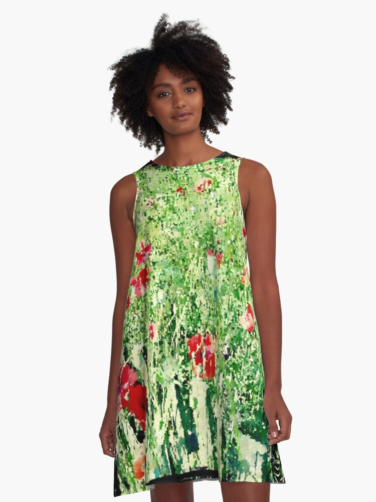 Poppies in summer A-Line Dress Front