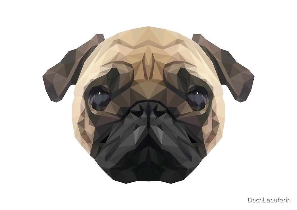 Low Poly Pug by DachLaeuferin