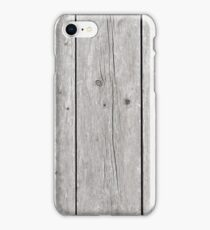Background of wooden boards iPhone Case/Skin