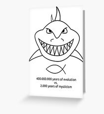 Evolution vs. Mysticism Greeting Card