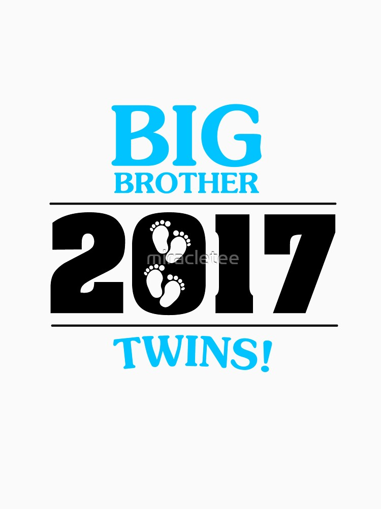 Big Brother of Twins Est Since 2017  Kids for Boys by miracletee