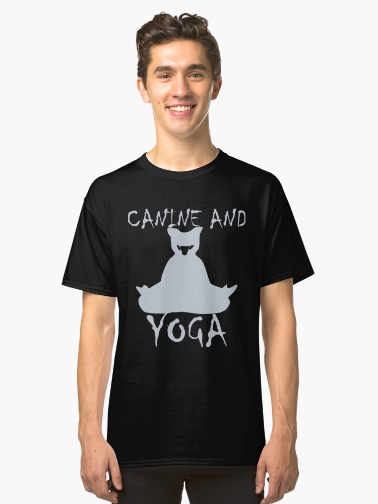 CANINE AND YOGA TSHIRT Classic T-Shirt Front