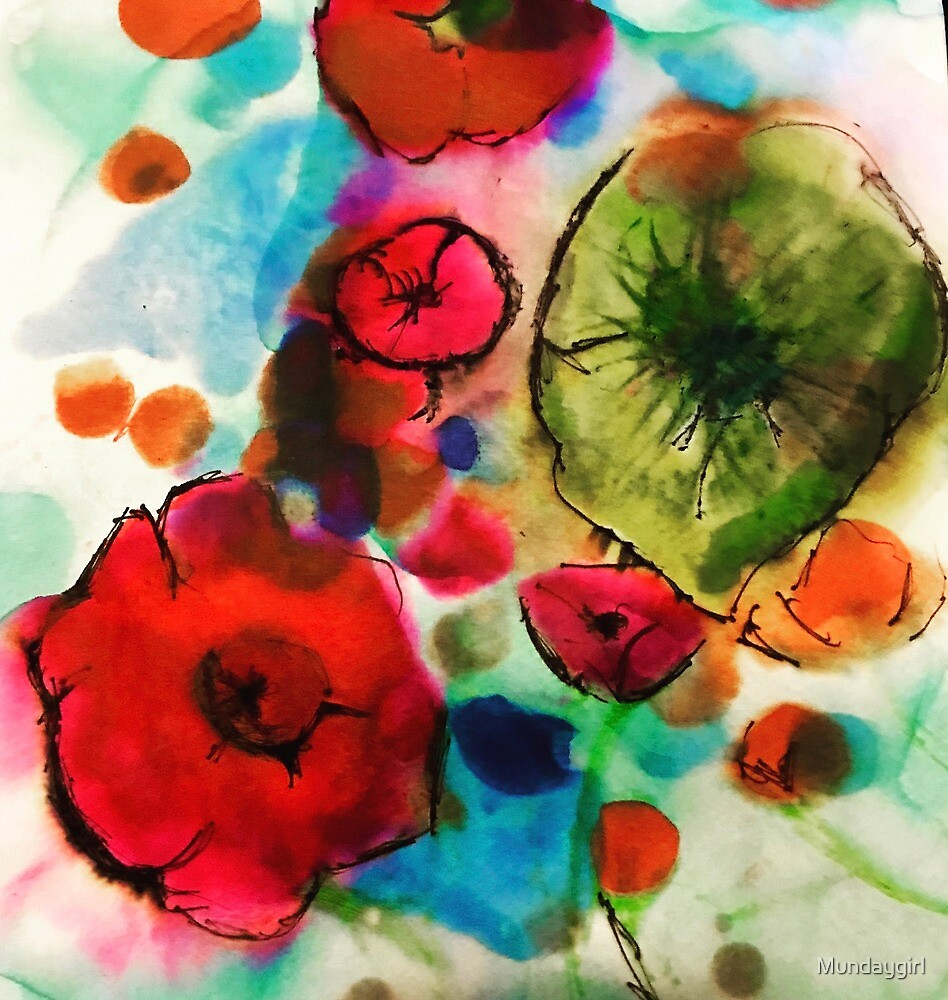 And then she drew Poppies by Mundaygirl