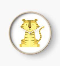 animals set - tiger Clock