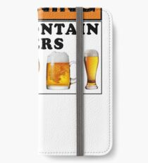 Warning may contain beers iPhone Wallet/Case/Skin