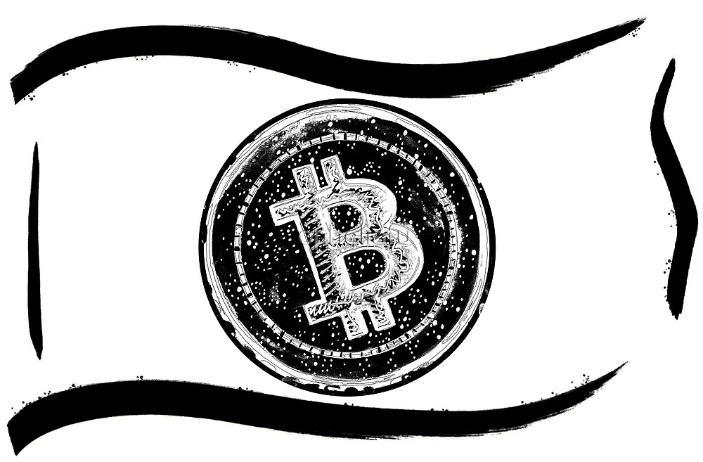 Bitcoin Cash -note design black by opheliafu