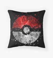 Pokemon Splatter Throw Pillow
