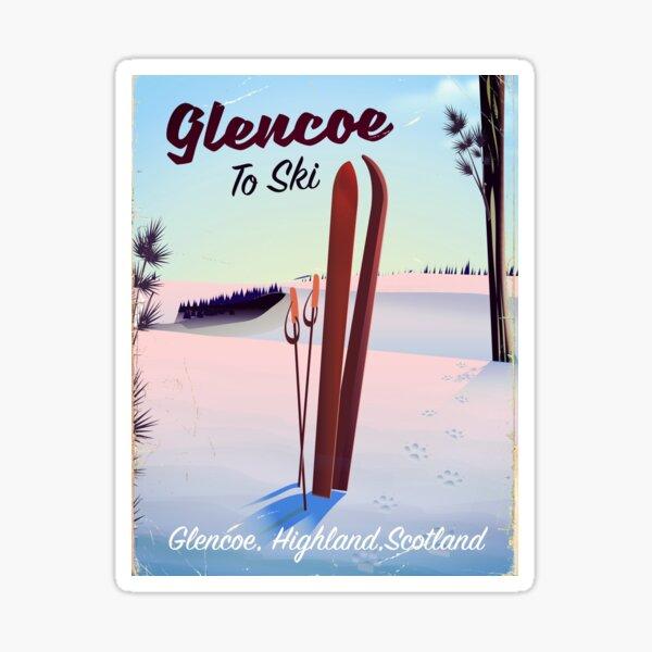 Glencoe To Ski travel poster Sticker