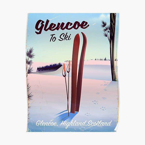 Glencoe To Ski travel poster Poster