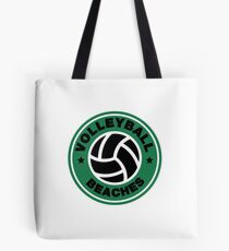 Volleyball Beaches Funny Coffee Distressed Funny Gift Tote Bag