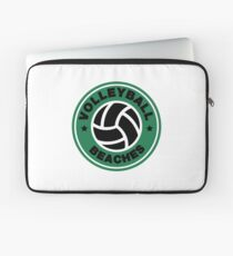 Volleyball Beaches Funny Coffee Distressed Funny Gift Laptop Sleeve