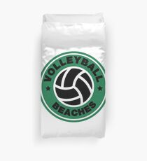 Volleyball Beaches Funny Coffee Distressed Funny Gift Duvet Cover