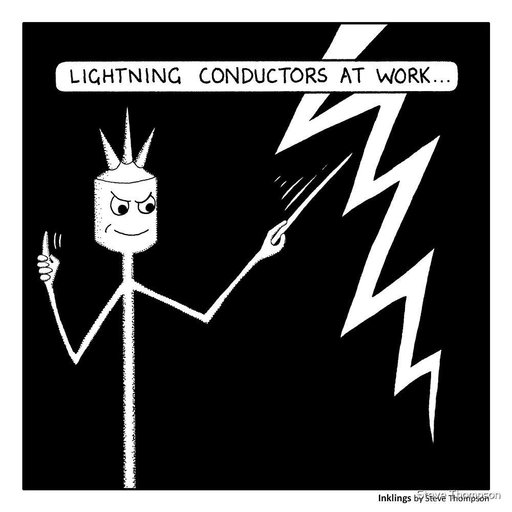 Lightning conductors by Steve Thompson