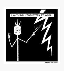 Lightning conductors Photographic Print