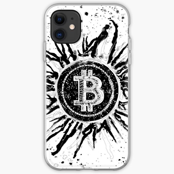 'Bitcoin Explosion'- Black and White iPhone Soft Case