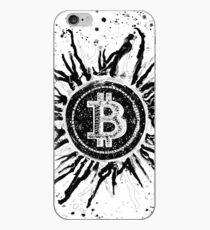'Bitcoin Explosion'- Black and White iPhone Case