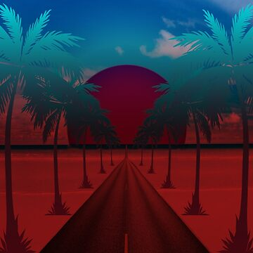 Beach Road to PARADISE Red by Wight