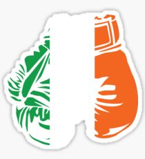Irish Flag Boxing Gloves Design  Sticker