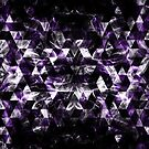 Triangle Geometric Purple Smoky Galaxy by PLdesign
