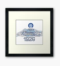 SSC Napoli Cloud Framed Print