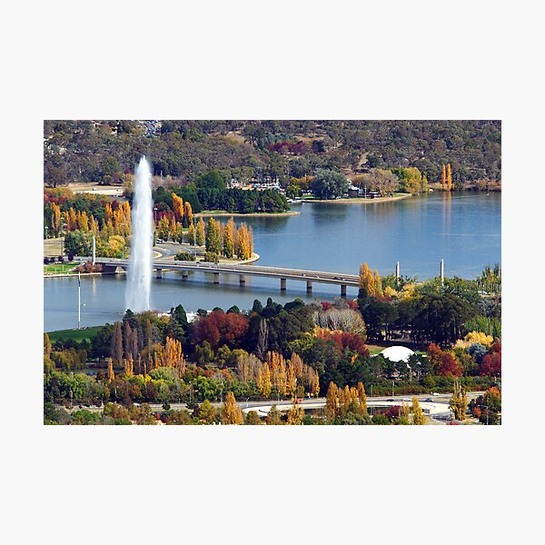 Lake Burley Griffin - Canberra Photographic Print