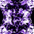 Electrifying ultra violet purple sparkly triangle flames by PLdesign