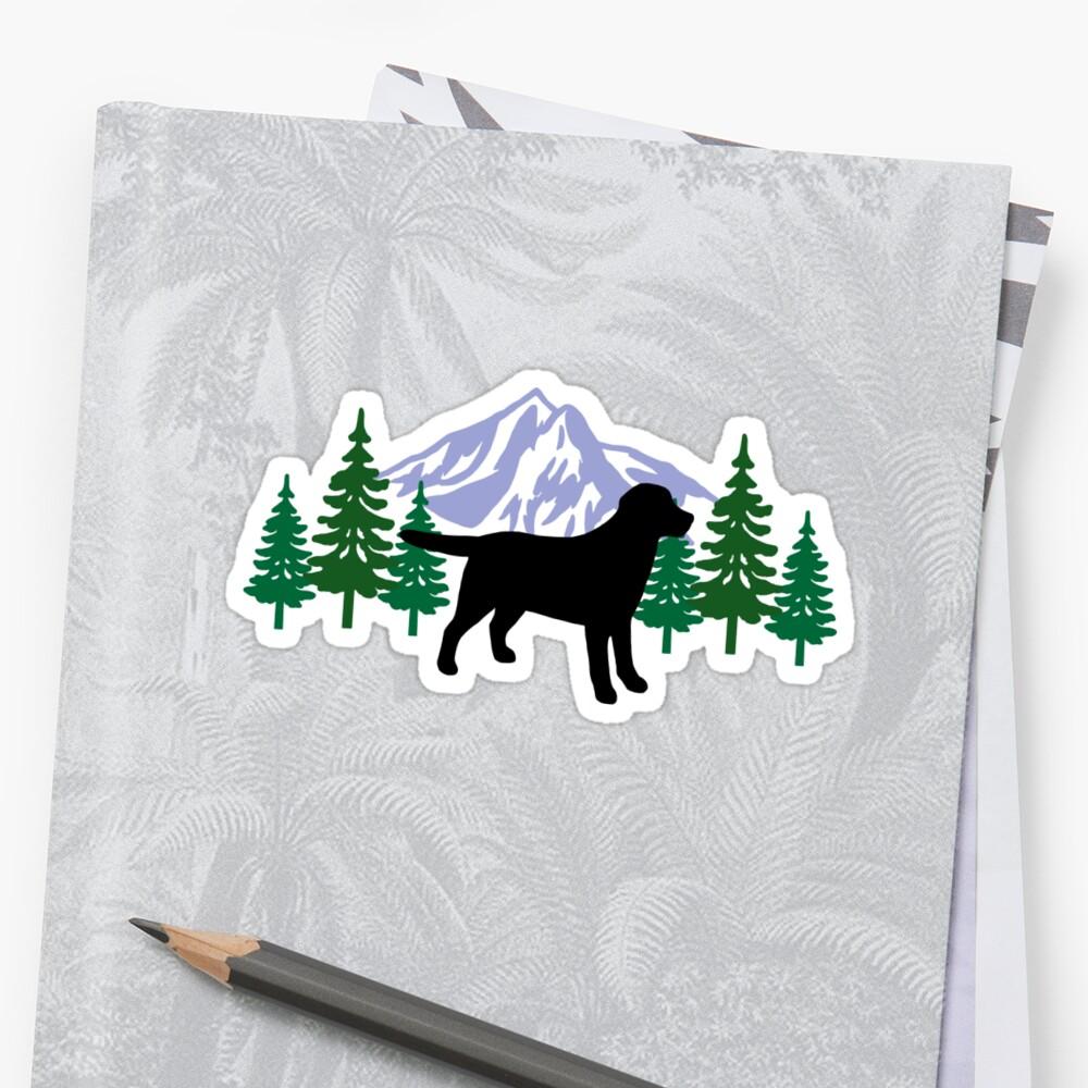 Black Labrador Silhouette Evergreen by HappyLabradors