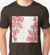 Watercolor Pink Floral Design T-Shirt
